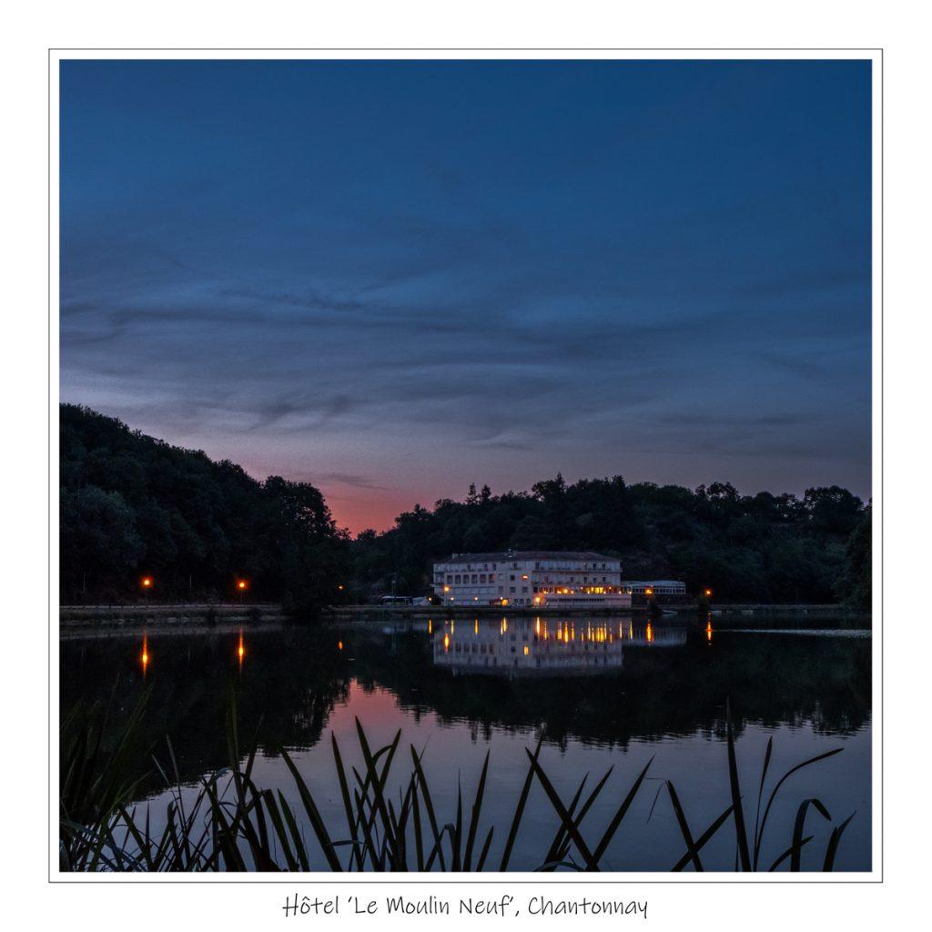 Le Moulin Neuf Hotel Chantonnay, zonsondergang