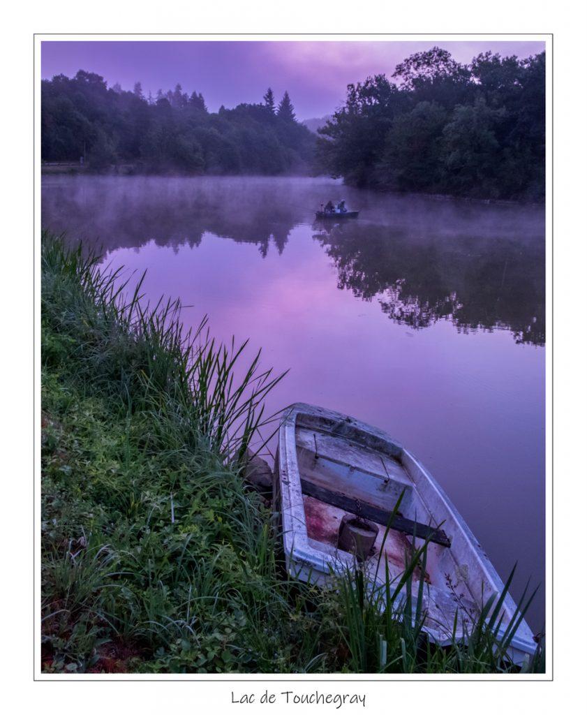 Lac de Touchegray, zonsopgang